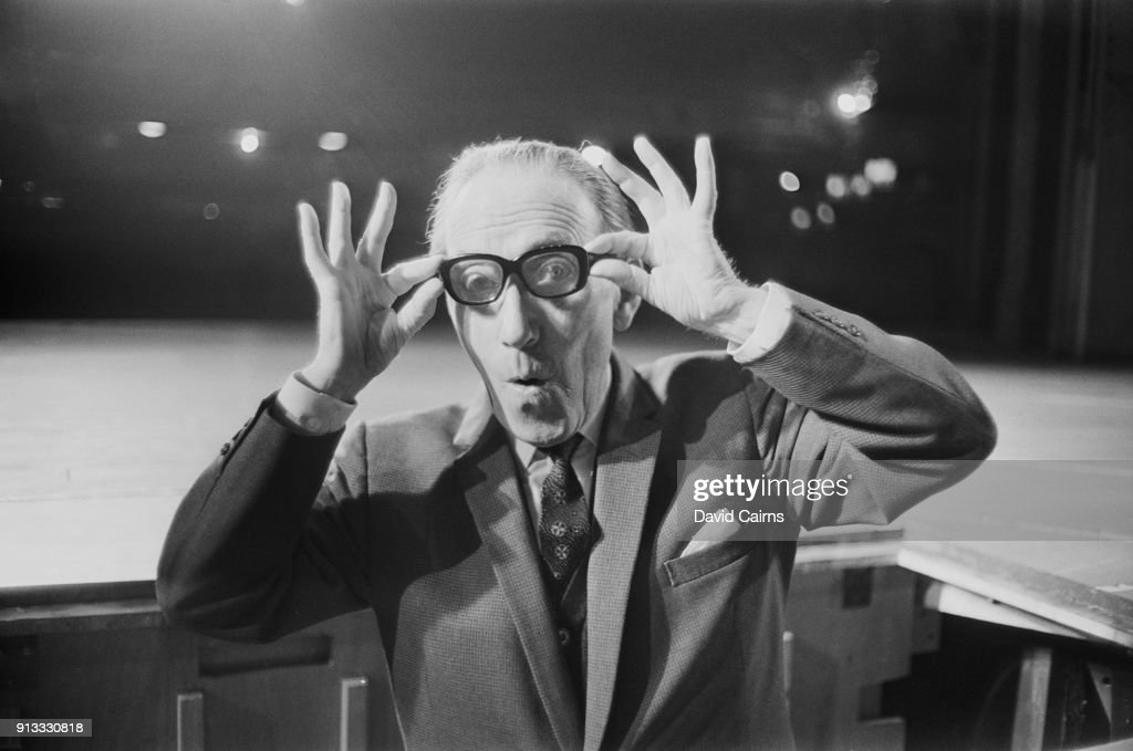 British comedian and actor Arthur Askey (1900 - 1982) at the London Palladium, UK, 8th February 1968.