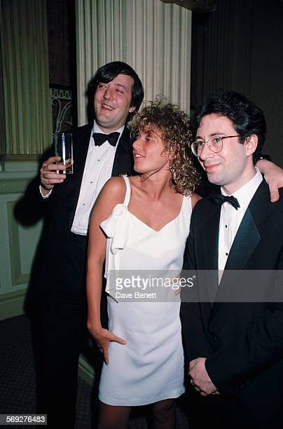 British comedian and actor Stephen Fry English actress Emily Lloyd and EnglishAustralian comedian author and playwright Ben Elton circa 1993