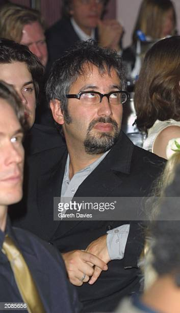 British comedian David Baddiel attends the 2001 British Independent Film Awards at the Park Lane Hotel in London on October 24 2001