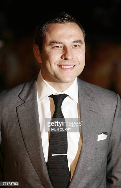 British comedian David Walliams arrives for the European premier of the film Stardust at London's Odeon cinema at Leicester Square 03 October 2007...