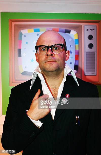 British comedian Harry Hill poses for a Comic Relief photo session at the Teddington Studios in London