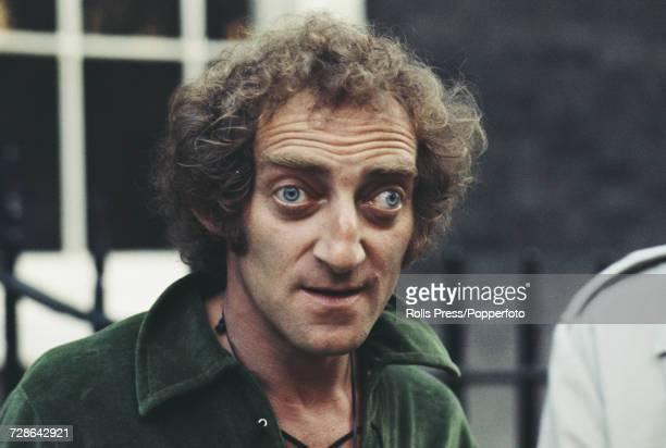 British comedian Marty Feldman pictured attending a press call to promote Spike Milligan's recently published autobiographical book 'Adolf Hitler My...