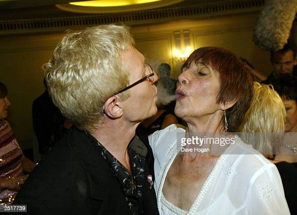 British comedian Paul O'Grady aka Lily Savage and actress June Brown who plays Dot Cotton from the program Eastenders attend the TV Quick Awards...