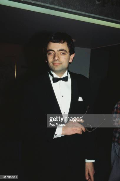 British comedian Rowan Atkinson attends the BAFTA awards at the Grosvenor House Hotel in London 5th March 1985