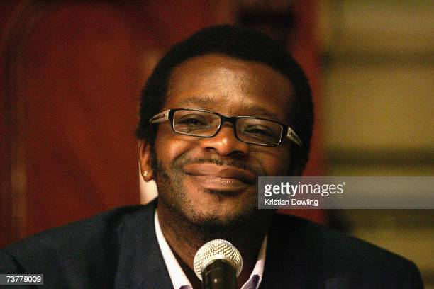 British comedian Stephen K Amos looks on during the launch of the Melbourne International Comedy Festival at Melbourne Town Hall on April 3 2007 in...
