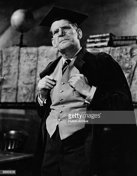 British comedian Will Hay plays a schoolmaster in the film 'The Ghost Of St Michael's' a comedy thriller directed by Marcel Varnel for Ealing Studios