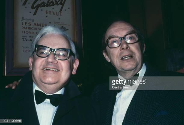British comedians Ronnie Barker and Eric Morecambe circa 1975