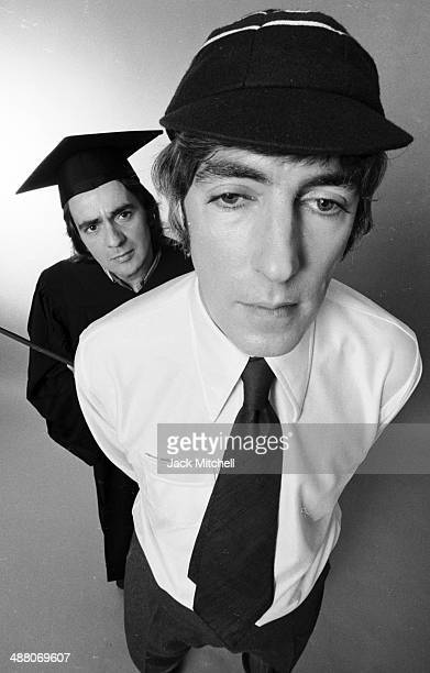 British comedic duo Dudley Moore and Peter Cook on Broadway during the tour of their show 'Good Evening' October 1973