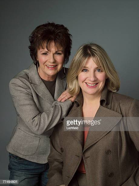 British comediennes, actresses and writers Victoria Wood and Julie Walters on 7th January 2005. .