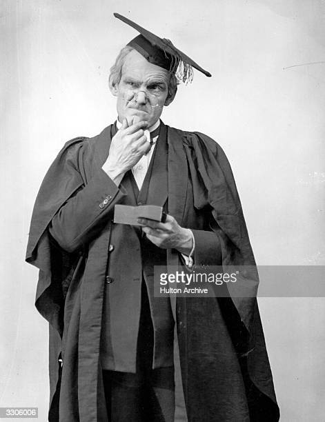 British comedy actor Will Hay plays an incompetent schoolmaster in the film 'Good Morning Boys' directed by Marcel Varnel for Gainsborough