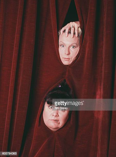 British comedy duo Dawn French and Jennifer Saunders circa 1990