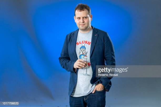British comedy writer author and comedian Adam Kay attends a photocall during the annual Edinburgh International Book Festival at Charlotte Square...