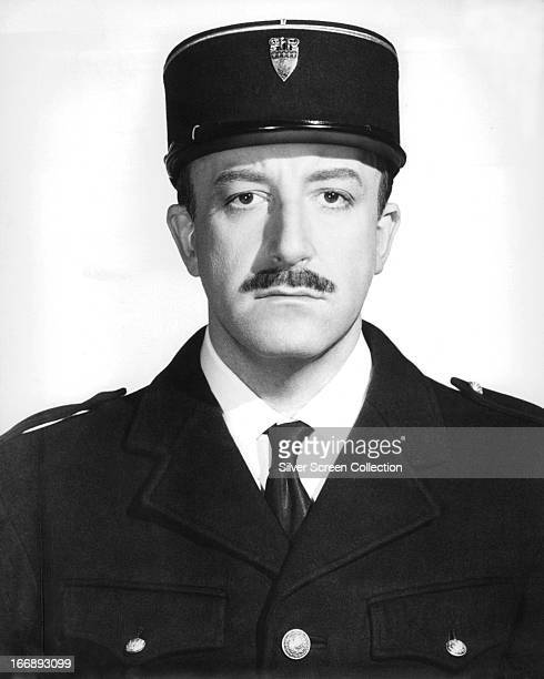 British comic actor Peter Sellers as he appears in the role of Inspector Jacques Clouseau in 'The Pink Panther' directed by Blake Edwards 1963