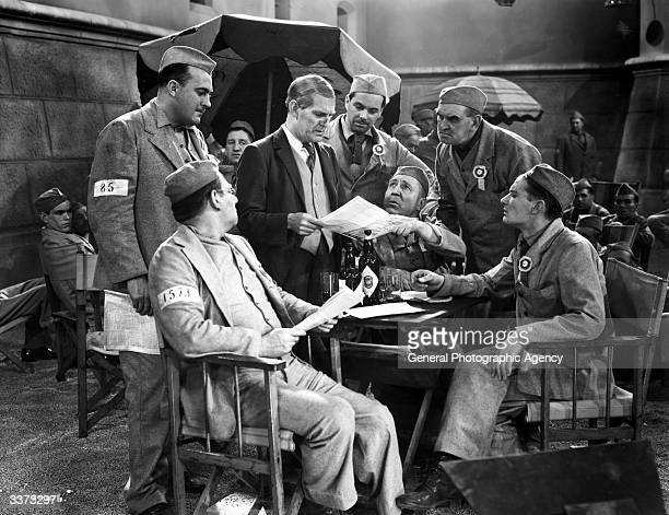 British comic actor Will Hay stars in the Gainsborough prison comedy 'Convict 99' directed by Marcel Varnel
