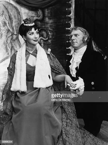 British comic actress Fenella Fielding with British character actor George Benson in the show 'Jubilee Girl' at the Bristol Hippodrome