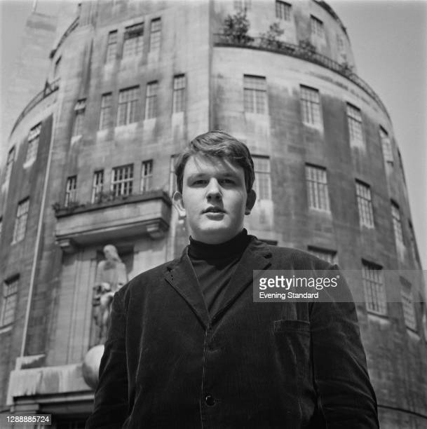 British composer and conductor Oliver Knussen outside BBC Broadcasting House in London, UK, 8th April 1968.