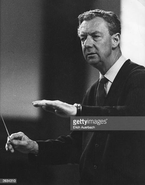 British composer Benjamin Britten conducting in 1966 Original Publication People Disc HJ0402