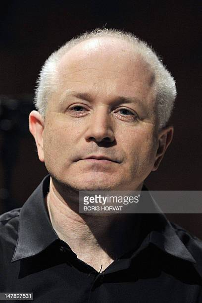 British composer George Benjamin poses on July 4 2012 at the Grand Theatre de Provence in AixenProvence southern France after a rehearsal of his...