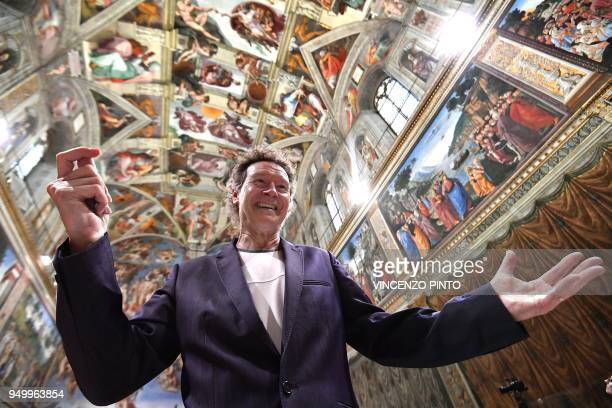 British composer Harry Christophers poses in the Sistine Chapel prior to conducts the sir James MacMillians Stabat Mater by British Choir in a...