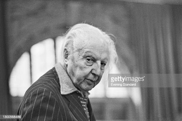 British conductor Leopold Stokowski , UK, 24th April 1973.