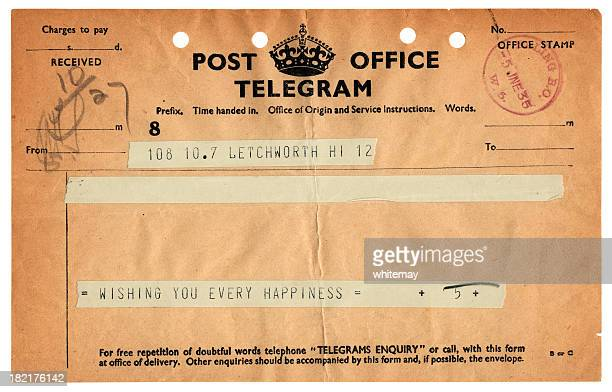British congratulations telegram, 1935