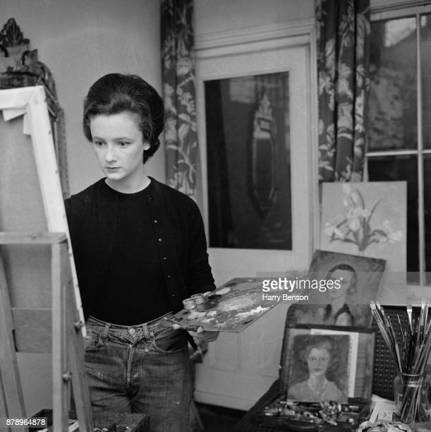 British conservationist and businesswoman Lindy HamiltonTempleBlackwood Marchioness of Dufferin and Ava known as Lindy Huinness painting UK 23rd...