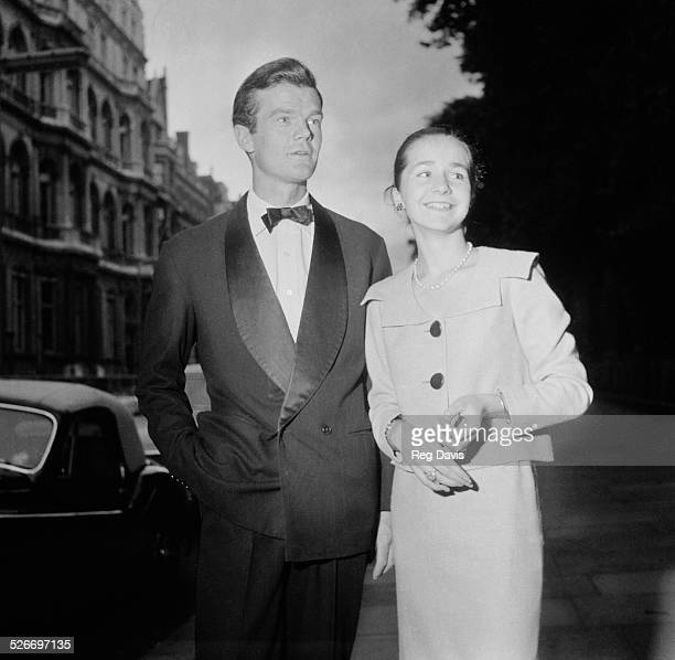 British Conservative Member of Parliament and diarist Alan Clark and Caroline Jayne Beauttler, 30th July 1958.