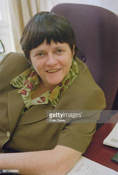 British Conservative MP Ann Widdecombe at her office in Parliament Street London 19th May 1998