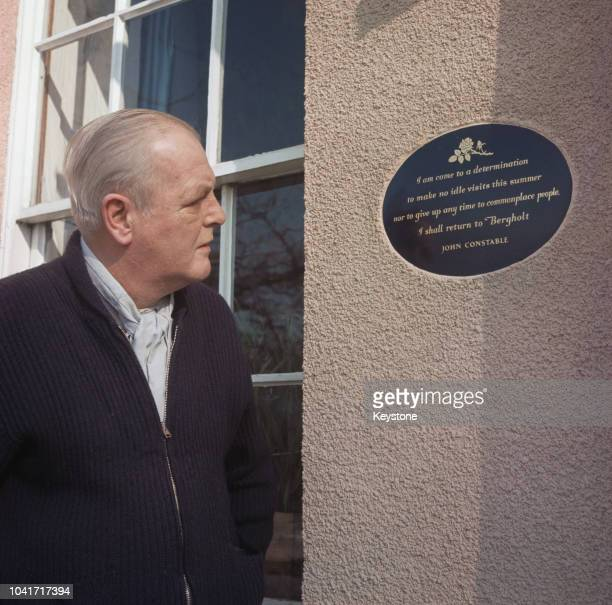British Conservative MP Randolph Churchill , the son of former Prime Minister Winston Churchill, at Stour House, his home in East Bergholt, Suffolk,...