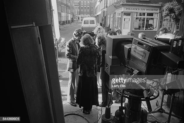 British Conservative Party Education Secretary and MP for Finchley Margaret Thatcher with a television crew during the UK general election campaign...