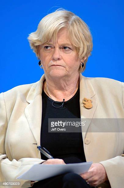 British Conservative Party members Ann Widdecombe during a policy review question and answer session at the Bournemouth International Centre during...