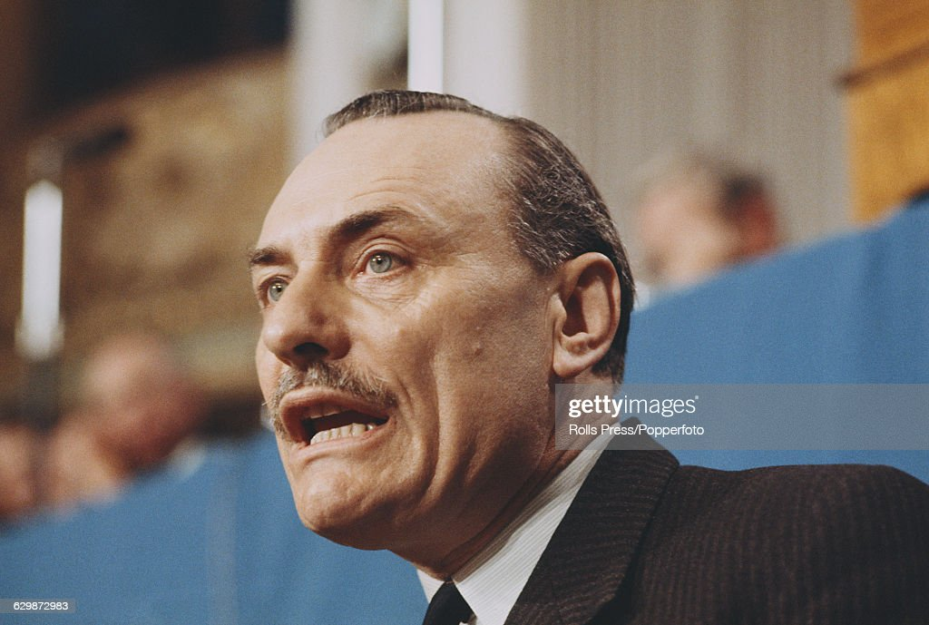 Enoch Powell At 1968 Tory Party Conference : News Photo
