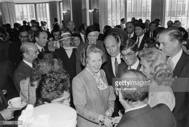 British Conservative Party politician and Prime Minister of the United Kingdom Margaret Thatcher meets Aga Khan Imam of the Ismaili Muslims at the...