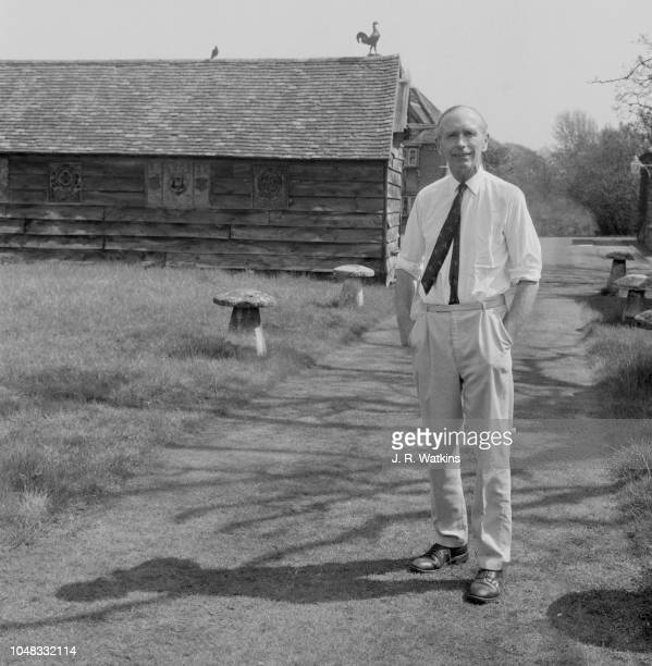 British Conservative Party politician and Secretary of State for Foreign Affairs Alec DouglasHome pictured in the grounds of a country estate in the...