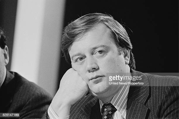 British Conservative Party politician and Transport Minister, Kenneth Clarke pictured at the Conservative Party Conference in Blackpool on 14th...