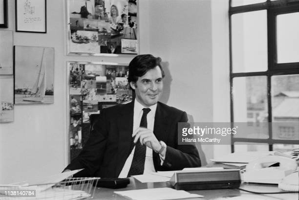 British Conservative Party politician Jonathan Aitken, UK, 21st March 1983.