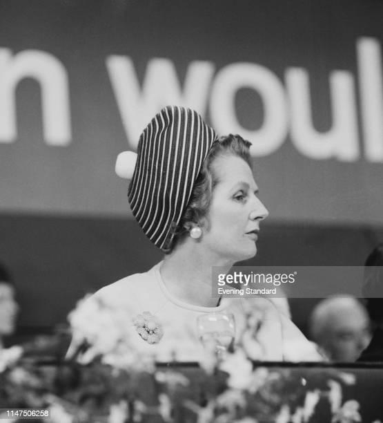 British Conservative Party politician Margaret Thatcher at the Conservative Party annual conference in Brighton, UK, 10th October 1969.