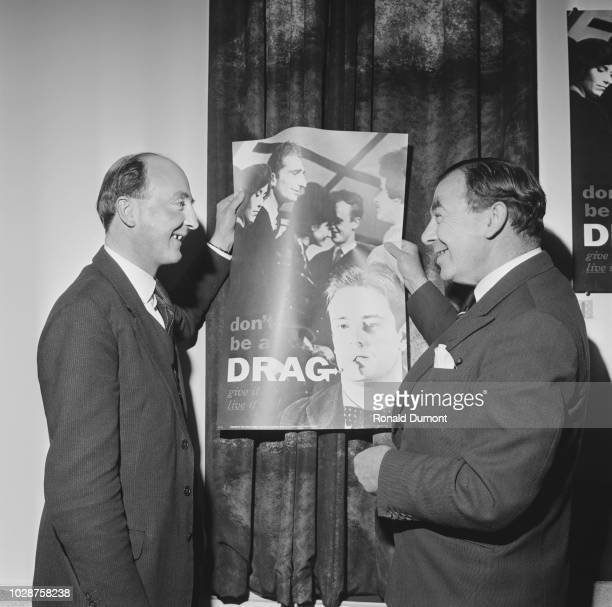 British Conservative Party politician Peter Legh Lord Newton Parliamentary Secretary to the Ministry of Health pictured on left with Ian Fraser...