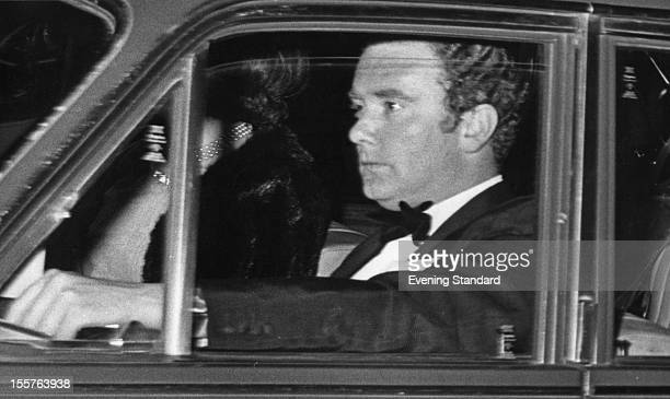 British Conservative politician and MP for Chester Peter Morrison at the wheel of a car 22nd April 1976