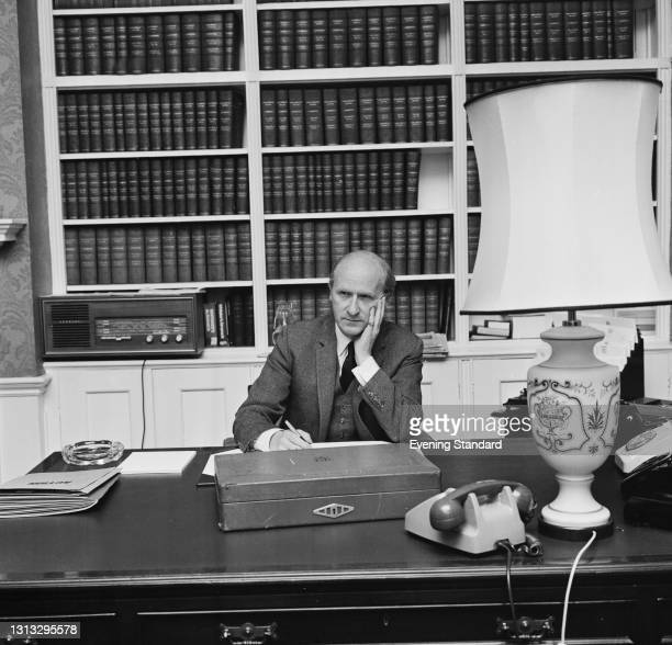 British Conservative politician Anthony Barber , the Chancellor of the Exchequer, prepares to present his crisis mini-budget to the House of Commons...
