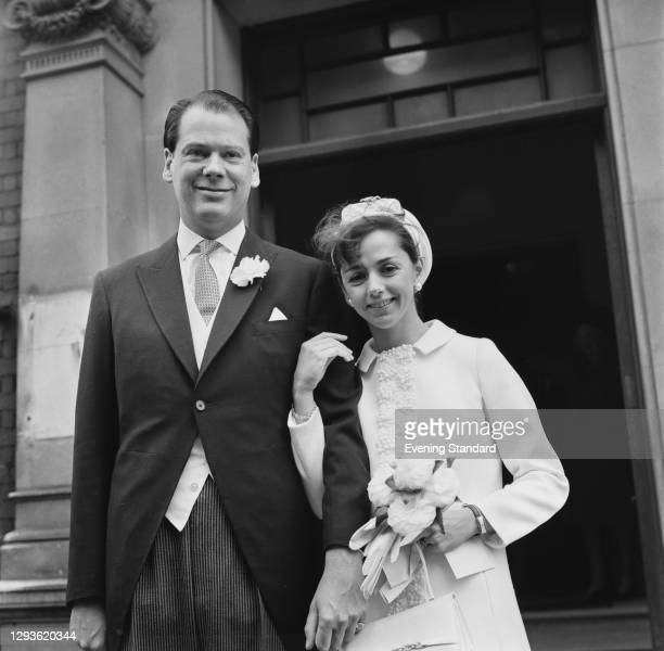 British Conservative politician Anthony Berry , the MP for Enfield Southgate, marries Sarah Anne Clifford-Turner in Chelsea, London, UK, 5th April...