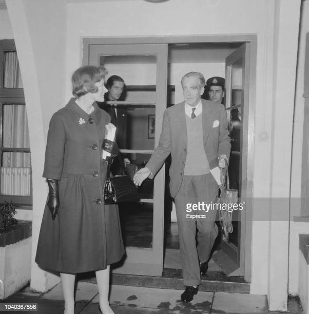 British Conservative politician Anthony Eden with his wife Clarissa Eden UK 21st November 1960