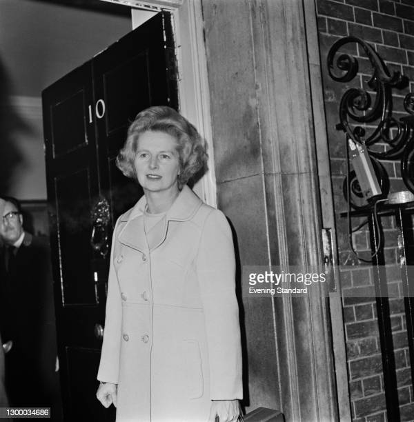 British Conservative politician Margaret Thatcher , the Secretary of State for Education and Science, outside 10 Downing Street in London, UK, 10th...