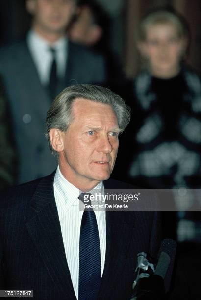 British Conservative politician Michael Heseltine on November 20 1990 in London England