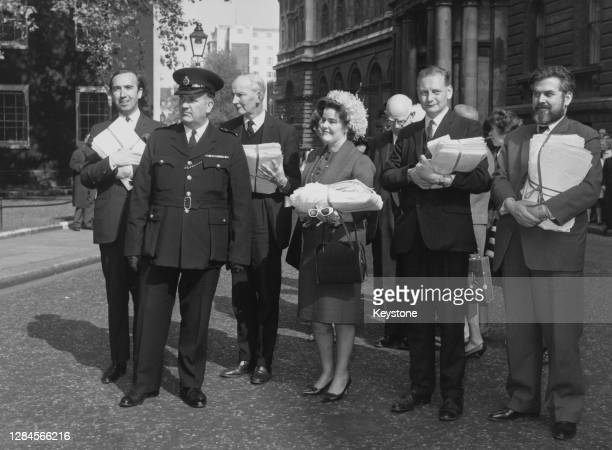 British Conservative politician Norman St John-Stevas , Irish peer Patrick Barrington, 11th Viscount Barrington , British Conservative politician...