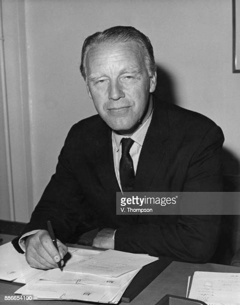 British Conservative politician Paul Bryan the Minister of State for Employment and Productivity at his office at the Department of Employment and...