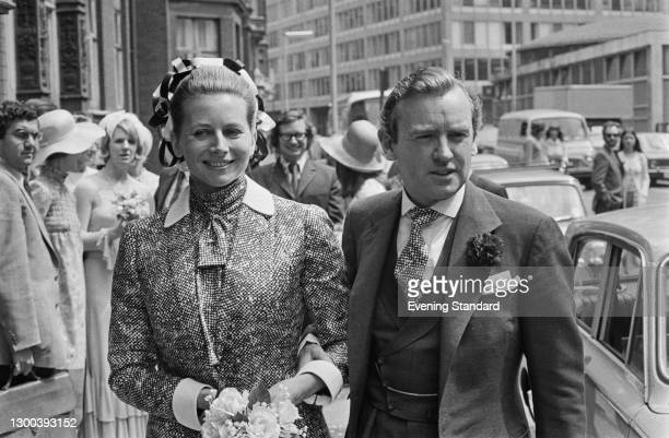 British Conservative politician Victor Goodhew marries Eva Rittinghausen at Caxton Hall in Westminster, London, UK, 3rd August 1972.