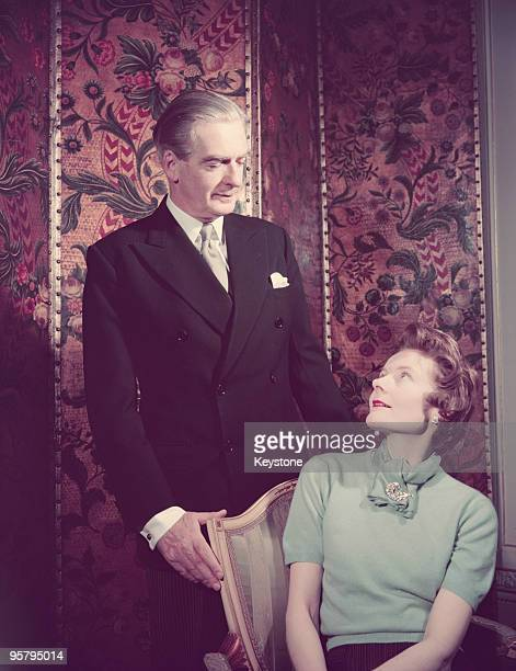 British Conservative prime minister Anthony Eden with his wife Clarissa Lady Eden circa 1955
