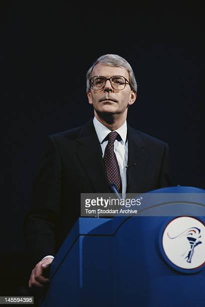 British Conservative Prime Minister John Major in London during his election campaign 5th April 1992