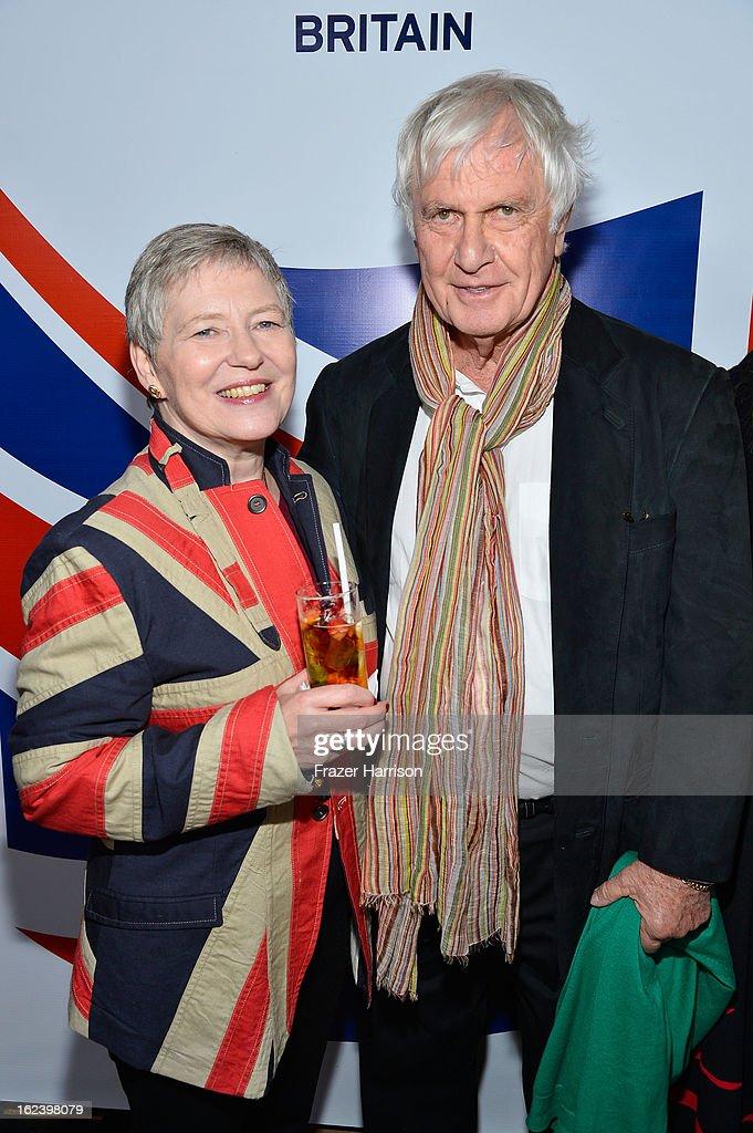 British Consul General Dame Barbara Hay and Director Peter Medak attend the GREAT British Film Reception at British Consul General's Residence on February 22, 2013 in Los Angeles, California.